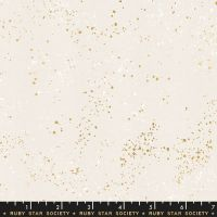Speckled White Gold Metallic Gold Spatter Texture Ruby Star Society Cotton Fabric