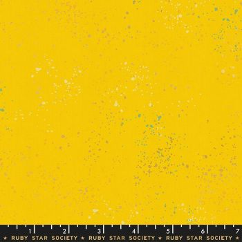 Speckled Sunshine Metallic Spatter Texture Ruby Star Society Cotton Fabric