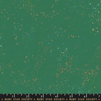 Speckled Emerald Green Metallic Spatter Texture Ruby Star Society Cotton Fabric