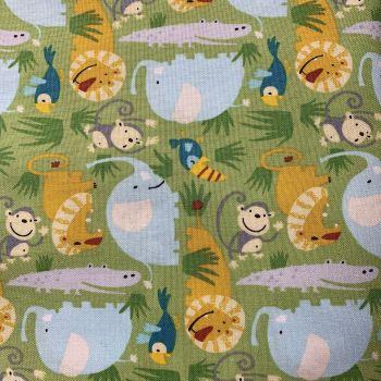 DESTASH 4.85m Length Bungle in the Jungle In The Wild Freespirit Fabrics David Walker Cotton Fabric
