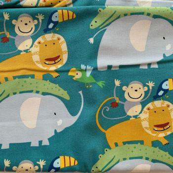 DESTASH 3.28m Length Bungle in the Jungle Animal StackFreespirit Fabrics David Walker Cotton Fabric