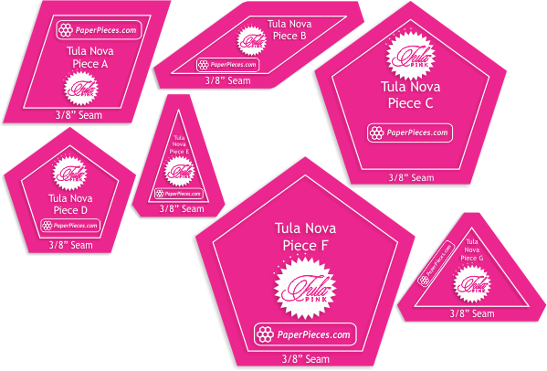 IN STOCK Tula Pink Tula Nova 7 Piece Acrylic Fabric Cutting Templates with