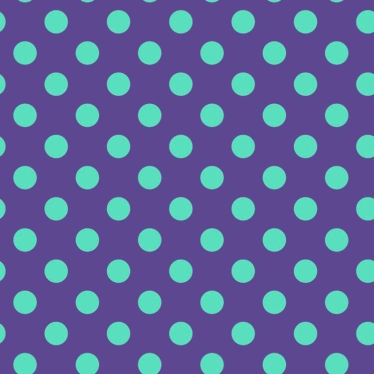 Tula Pink All Stars Pom Poms Iris Spot Polkadot Geometric Blender Cotton Fa