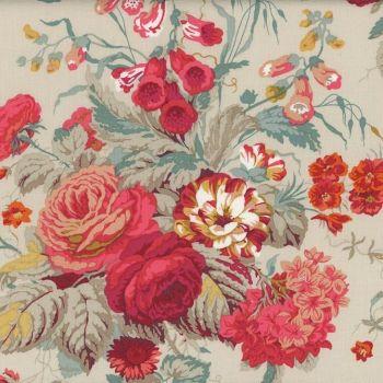 Sanderson Vintage Stapleton Park Dusky Floral FreeSpirit Fabrics Cotton Fabric