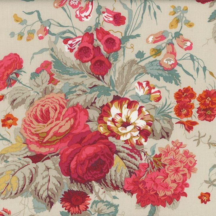 Sanderson Vintage Stapleton Park Dusky Floral FreeSpirit Fabrics Cotton Fab