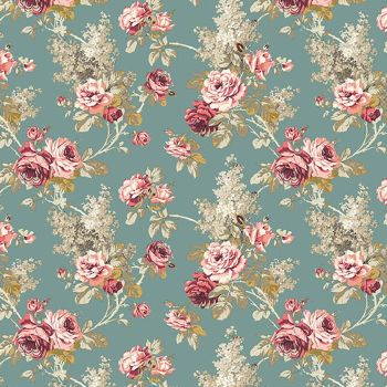 Sanderson Vintage Sorilla Dusky Floral FreeSpirit Fabrics Cotton Fabric