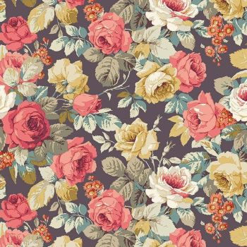 Sanderson Vintage Chelsea Dusky Floral FreeSpirit Fabrics Cotton Fabric