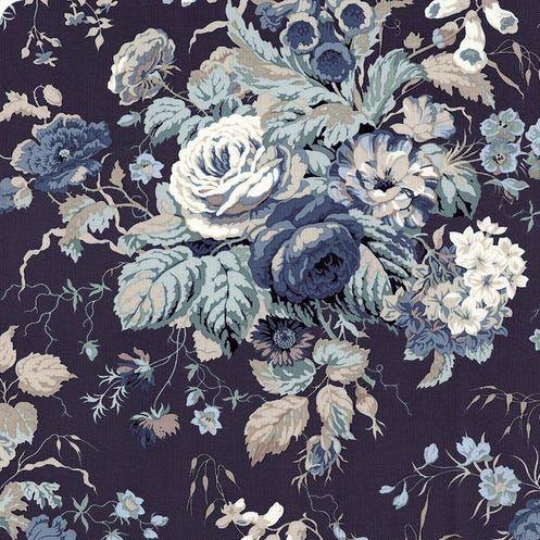 Sanderson Vintage Stapleton Park Blue Floral FreeSpirit Fabrics Cotton Fabr