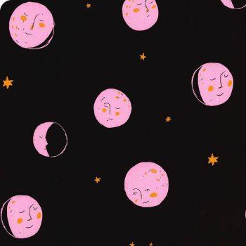 Heather Ross Far Far Away 2 Moons Dark Plum Cotton Fabric