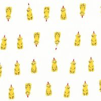 Heather Ross Far Far Away 2 Honey Bears Yellow Cotton Fabric