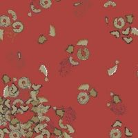 Pencil Club Pencil Shavings in Cadmium Red Heather Givans Stationery Pencils Cotton Fabric