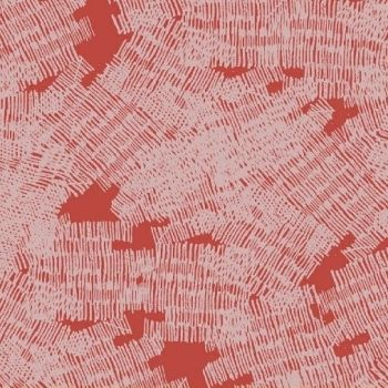 Pencil Club Marks in Vermillion Scribbles Texture Heather Givans Stationery Pencils Cotton Fabric