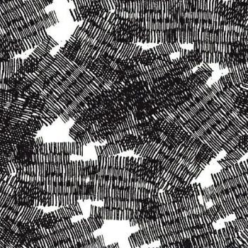 PRE-ORDER Pencil Club Marks in Carbon Black Scribbles Texture Heather Givans Stationery Pencils Cotton Fabric
