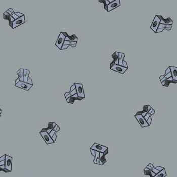 PRE-ORDER Pencil Club Sharpeners in Silver Grey Heather Givans Stationery Pencils Cotton Fabric