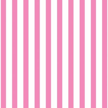 Great British Quilter Back to Basics Stripe Candy Pink and White Tent Stripes Sarah Ashford Cotton Fabric