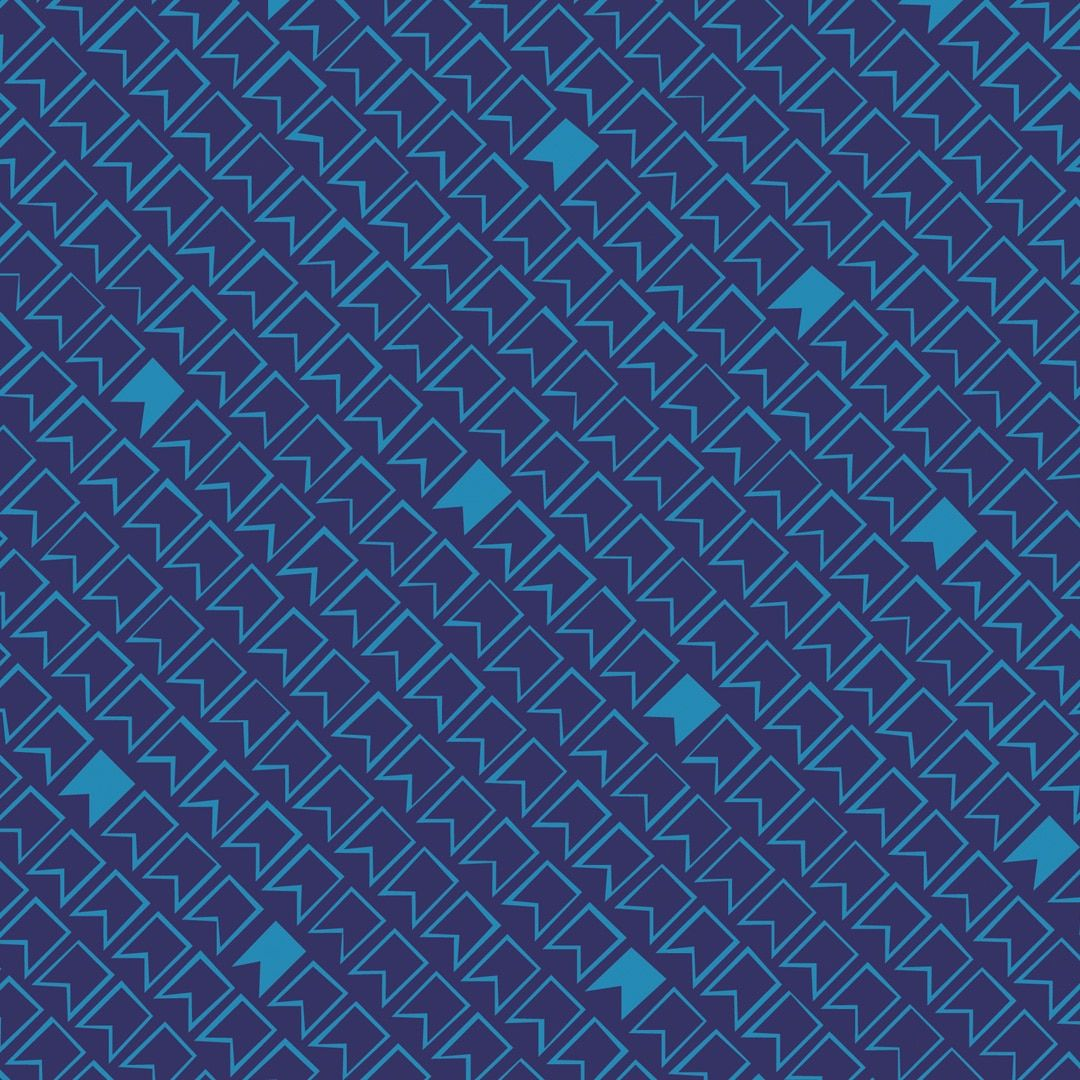 Great British Quilter Back to Basics Pennant Flags Midnight Blue Sarah Ashf