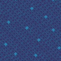 Great British Quilter Back to Basics Pennant Flags Midnight Blue Sarah Ashford Cotton Fabric