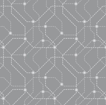DESTASH 40cm City Nights Underground Silver Geometric Metallic Map Lines Abstract Cotton Fabric