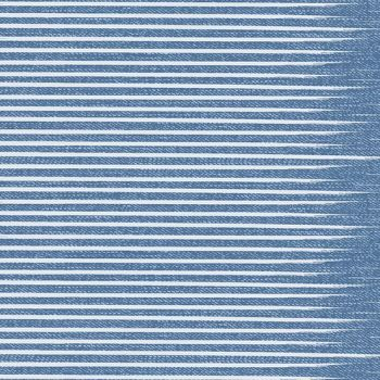 Almost Blue Stripe Vintage Libs Elliott Cotton Fabric