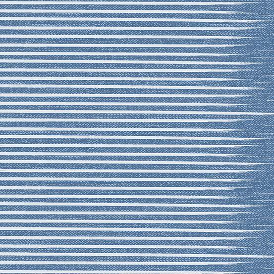 PRE-ORDER Almost Blue Stripe Vintage Libs Elliott Cotton Fabric