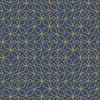 Almost Blue Stitch Indigo Metallic Libs Elliott Cotton Fabric