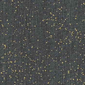 Almost Blue Spray Asphalt Metallic Libs Elliott Cotton Fabric