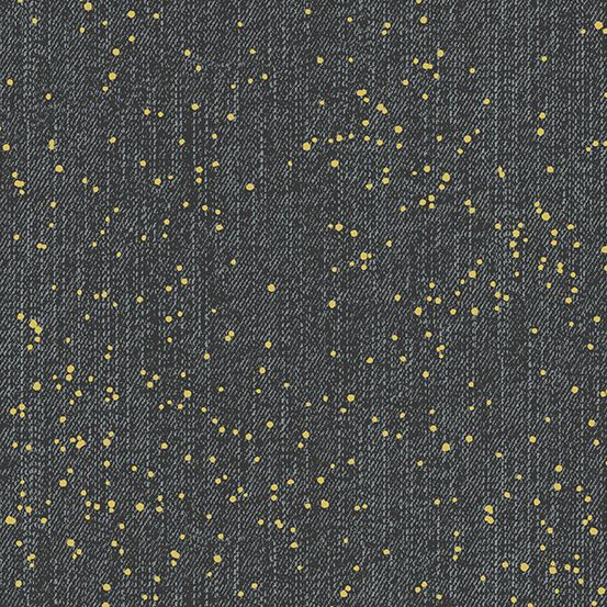 PRE-ORDER Almost Blue Spray Asphalt Metallic Libs Elliott Cotton Fabric