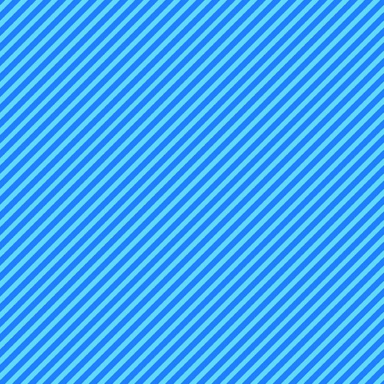 Sweet Shoppe Too Candy Stripe Electric Blue Bias Stripes Pinstripe Quilt Bi
