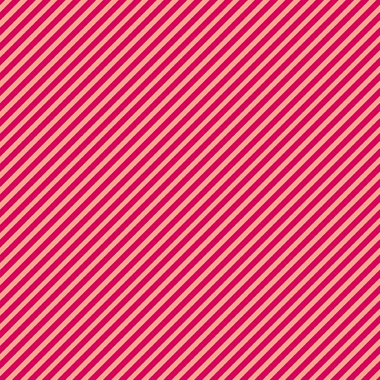 Sweet Shoppe Too Candy Stripe Ruby Red Bias Stripes Pinstripe Quilt Binding