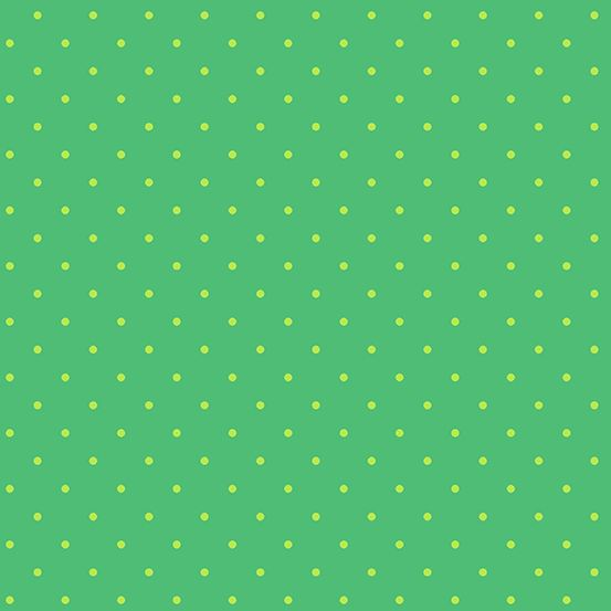 Sweet Shoppe Too Candy Dot Kelly Green Polkadot Spot Geometric Blender Cott
