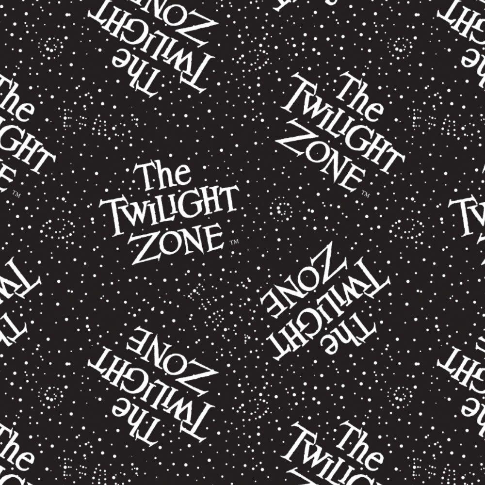 CBS Television City Twilight Zone Logo Retro TV Show Glow in The Dark Cotto