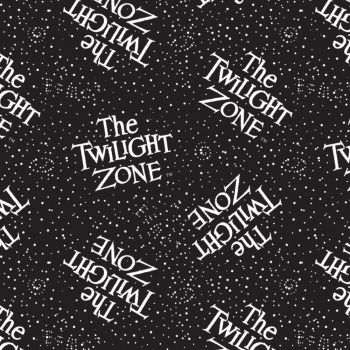 CBS Television City Twilight Zone Logo Retro TV Show Glow in The Dark Cotton Fabric