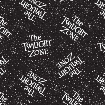 CBS Television City Twilight Zone Logo Retro TV Show Glow in The Dark Cotton Fabric