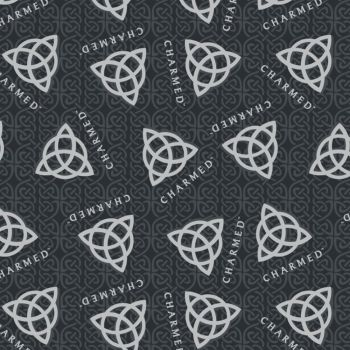 CBS Television City Charmed Logo Retro TV Show Witches Coven Witch Cotton Fabric