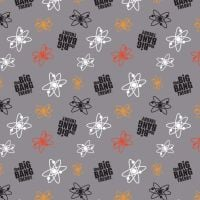 The Big Bang Theory Atoms Grey Logo Toss Sheldon Cooper Nerd Geek Science TV Show Cotton Fabric