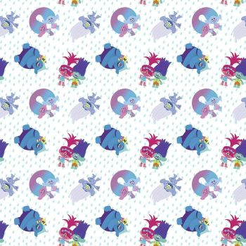 Dreamworks Trolls Troll Friends White Characters Poppy Branch Biggie Rainbow Cotton Fabric