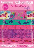 IN STOCK Tula Pink HomeMade Night 5 Yard Designer Ribbon Pack Renaissance Ribbons