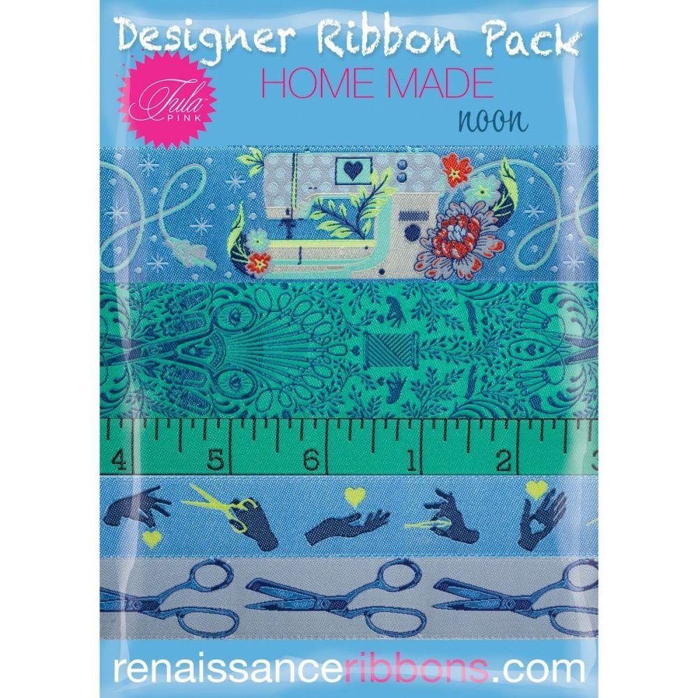PRE-ORDER Tula Pink HomeMade Noon 5 Yard Designer Ribbon Pack Renaissance R