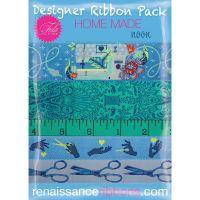 IN STOCK Tula Pink HomeMade Noon 5 Yard Designer Ribbon Pack Renaissance Ribbons