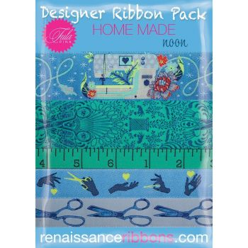 IN STOCK Tula Pink HomeMade Noon 5 Yard Designer Ribbon Pack Renaissance Ribbons