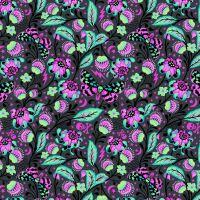 RARE Venus in Spirit Tula Pink De La Luna Skull Botanical Floral Butterfly Cotton Fabric