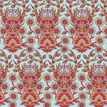RARE Tula Pink Moon Shine Deer Me Strawberry Botanical Cotton Fabric