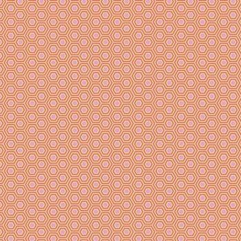 IN STOCK Tula Pink True Colors Hexy Peach Blossom Hexagon Spot Cotton Fabric
