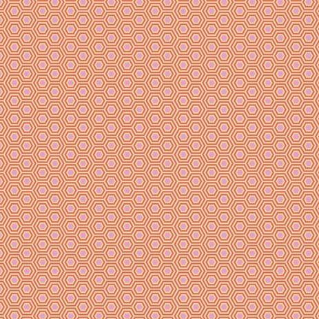 PRE-ORDER Tula Pink True Colors Hexy Peach Blossom Hexagon Spot Cotton Fabr