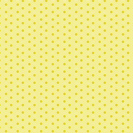 PRE-ORDER Tula Pink True Colors Hexy Sunshine Hexagon Spot Cotton Fabric