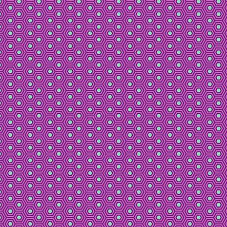 PRE-ORDER Tula Pink True Colors Hexy Thistle Hexagon Spot Cotton Fabric