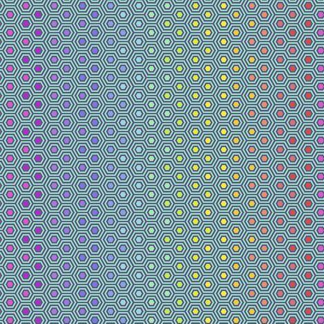 PRE-ORDER Tula Pink True Colors Hexy Rainbow Peacock Ombre Hexagon Spot Cot