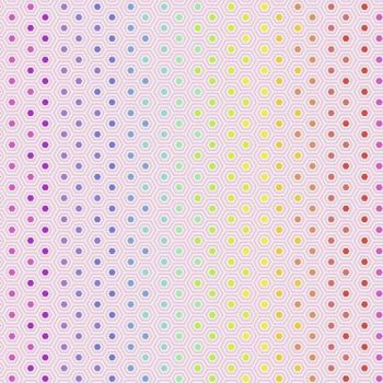 IN STOCK Tula Pink True Colors Hexy Rainbow Shell Ombre Hexagon Spot Cotton Fabric