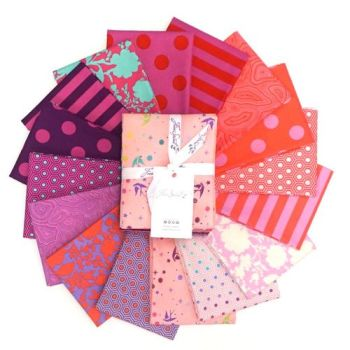 IN STOCK True Colors Tula Pink Flamingo 16 Fat Quarter Bundle Cotton Fabric Cloth Stack Full Collection