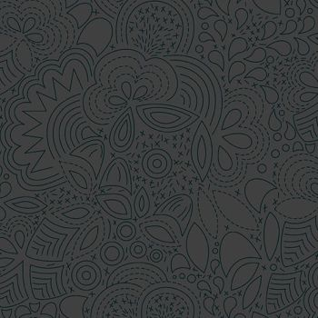Sun Print 2020 Stitched Night Floral Charcoal Grey Geometric Alison Glass Cotton Fabric